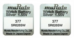 Murata (Sony) 377 Silver Oxide SR626SW Watch Battery - Avail 1-10pcs individual