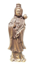 Antique Vintage Chinese Cast Bronze Brass Guanyin Kwan Yin Deity