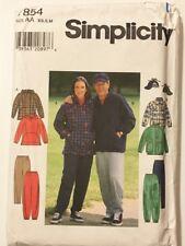 Vintage 1970s Simplicity Pattern 7854 - Unisex Retro Tracksuits Sz XS S M  Uncut