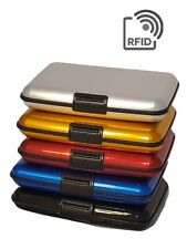 RFID Blocking Credit Card Aluminum ID case Hard Shell Wallet for Men or Women