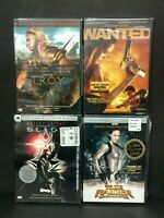 Lot Of 4 New DVD Action Movies Blade Troy Wanted Tomb Raider Factory Sealed