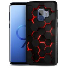 ( For Samsung S9 ) Back Case Cover AJ12526 Abstract Cell Red