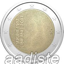 2 EURO 2017 - FINLANDIA FINNLAND FINLAND - CENTENARIO INDIPENDENZA - FDC UNC