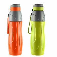 Cello Puro Sports Plastic Water Bottle Set, 900ml, Set of 2, Assorted Colors
