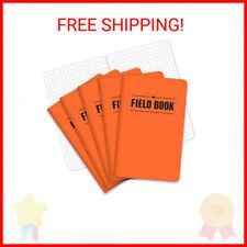 Field Notebookpocket Journal 35x55 Orange Graph Memo Book Pack