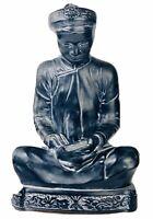 MCM Alexander Backer ABCO Black Chalkware Reading Buddist Monk Chinoiserie
