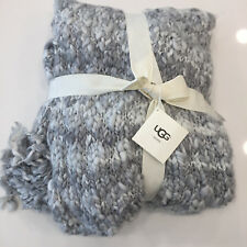 """UGG Home Cloud Solid Throw, Fringed  50""""x70"""", Gray Multi ***NWT*** RN# 72722"""