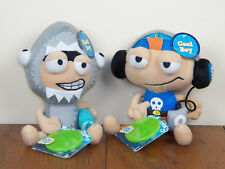 "Poptropica 2-LOT Shark Boy & Cool Boy 8"" Plush Stuffed Dolls Toys **BRAND NEW**"