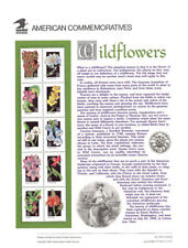 #400-404 29c Wildflowers #2647-2696 USPS Commemorative Stamp Panel