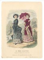 """Ladies Fashion Print - """"La Mode Illustree"""" 1882 No. 16"""