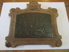 bas relief plaque en bronze A Jouenne militaire alliance soldat militaria