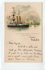 "HM BATTLESHIP ""SANSPAREIL"", SHEERNESS HARBOUR: Naval shipping postcard (C13775)"