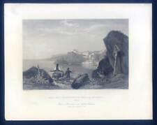 Calabria-Scylla-Italien-Italy-Italia - Stahlstich 1840