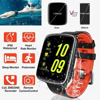 "1.54"" Heart Rate Smart Watch Fitness Tracker Wrist Waterproof for Android IOS"