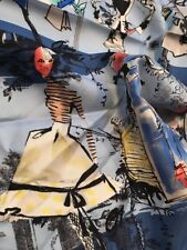 CHRISTIAN LACROIX gray border 20 ANS Anniversary Couture HISTORY silk scarf NWT