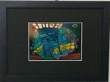 Bild, Friedensreich Hundertwasser, gerahmt ,Der blaue Mond