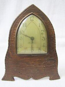 Antique New Haven Bronze Face Plate Case Clock.