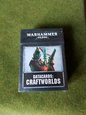 warhammer 40k Eldar Aeldari craftworlds data cards NIB new