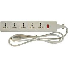WONPRO 5 Outlet Universal Power Strip Surge Protector WES45D105 100-250V Travel