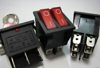 2pc Power Dual Light Rocker Switch 120V 240V 20A,RR212N