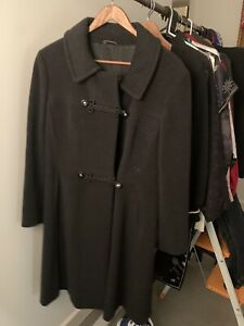 Vintage Womans Overcoat 1960s Size Med To Lge