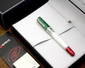 Marlen Penne d'Italia S.E. Fountain Pen | Italian Resin, Silver | Brand New