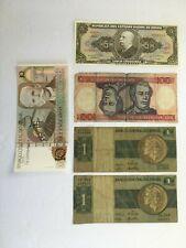 Lot of 5 Brazil Banknote 5 Cinco &10 Dez Cruzados Unc & 3 other paper money set