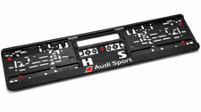 GENUINE Audi Sport Number Plate Surround Holder Plinth NEW! - 3291401400