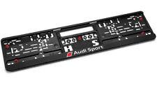 GENUINE Audi Sport Number Plate Surround Holder Plinth NEW! - 3291401400
