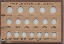 Types US Twenty Cents Dimes Half Dimes Meghrig Page NOS Lot MCC