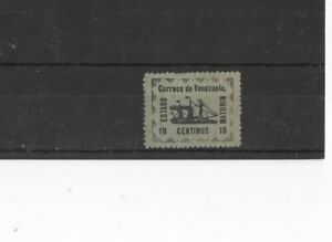VENEZUELA , 1903 ? 10c GREEN LOCAL ISSUE , MH