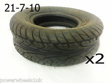 "TQU04X2 SET OF 2 X ROAD LEGAL 10"" FRONT TYRES 21/7/10 BASHAN  200CC QUAD BIKE"