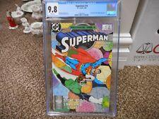 Superman 14 cgc 9.8 DC 1988 Green Lantern cover John Byrne NM MINT WHITE pgs TV