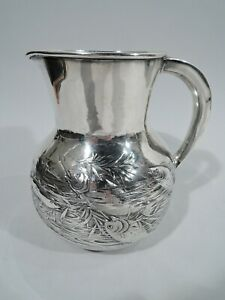 Gorham Water Pitcher - 1150 - Antique Japonesque - American Sterling Silver