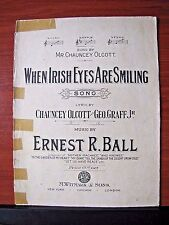 When Irish Eyes Are Smiling : in D - 1912 sheet music - Piano Vocal