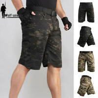 Tactical Military Mens Cargo Shorts Combat Summer Multi Pocket Army Casual Pants