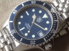 Vintage Tag Heuer 1000 Professional BLUE DIAL AND BLUE BEZEL INSERT