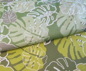 Monstera Leaves 270gsm Panama Curtain Fabric cotton Print Fabric Fabrics Cushion