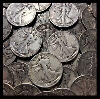 Walking Liberty Silver Half Dollar Good - Fine - One Random Coin From Estate Lot