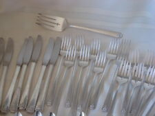 Oneida Prestige Silverplate Bordeau Knives, Forks Spoons, Serve Pieces   56 Pcs