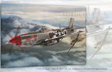 "P-51D Mustang ""Man O'War QP-A Aviation Art Canvas print Reproduction"