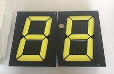 Segmentanzeige Display schwarz /gelbe Ziffern 7 Segment mechanisch Bodet 7 Stü