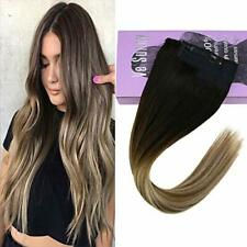VeSunny Halo Hair Extensions Invisible Wire Real Human Hair Balayage 2/6/24#