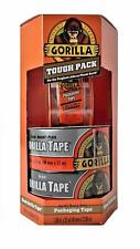 New listing Gorilla Tough Pack Heavy Duty Packaging Tape Silver & Black Roll New
