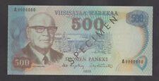 FINLAND  500 Markkaa  1975  UNC  *SPECIMEN*  REPRODUCTION