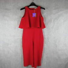New! Stunning! Missguided Red Playsuit Size 12 - Casual Stylish Women Fashion