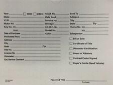Printed 9x12 Vehicle Deal Jackets Car Dealer Envelopes Gray 100 Per Pack
