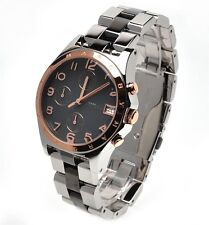 NEW MARC JACOBS SILVER,ROSE GOLD,BLACK CHRONO WATCH-MBM3071