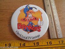 Disneyland Disney's Bonkers Check TV listings 1993 pinback button HTF