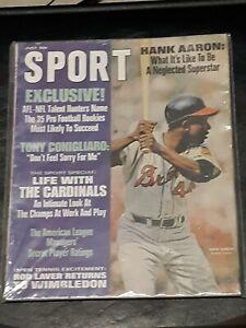 1968 SPORT magazine baseball Hank Aaron Atlanta Braves Hall of Famer Home Run